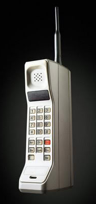 photo of huge, bulky old cellphone