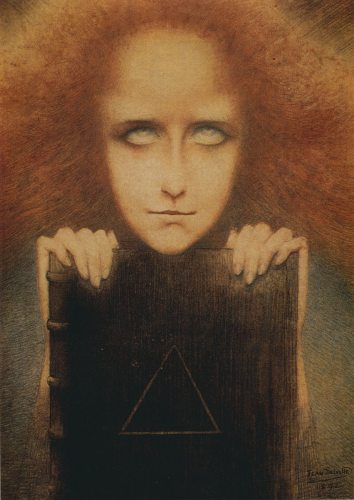 The Portrait of Mrs. Stuart Merrill by Jean Delville