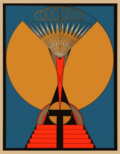The Light Of The Soul - theosophical print by Olga Fröbe-Kapteyn circa 1930s