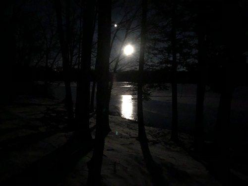 Glenmere Lake Moon, Florida, NY 1/29/21