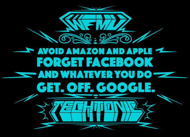 """<a href=""""https://pledge.wfmu.org/donate?program=TD&step=landing"""" target=""""_blank"""">Pledge $10/month</a> or $75 one-time pledge for the Techtonic Sign-Off T-Shirt, designed by <a href=""""https://www.jethro-haynes.com"""" target=""""_blank"""">Jethro Haynes</a>."""