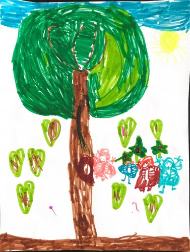 Fairies by a Tree by listener Ursula age 5