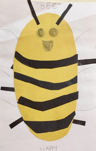 Happy bee by Foster. Email your original art to doubledip@wfmu.org to have it featured!