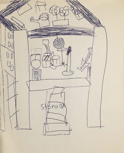 Storage space by Ben. Email your original artwork to doubledip@wfmu.org to have it featured!