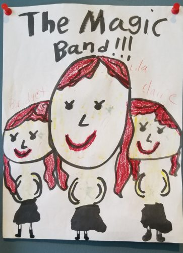 THE MAGIC BAND by Lila. Send your original art to doubledip@wfmu.org to have it featured!